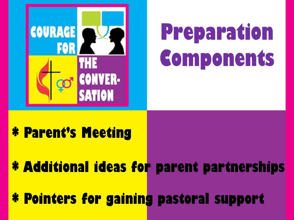 * Parents Meeting Preparation Components * Additional ideas for parent partnerships * Pointers for gaining pastoral support