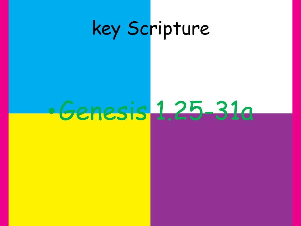 key Scripture Genesis 1.25-31a