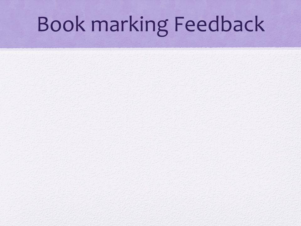 Book marking Feedback