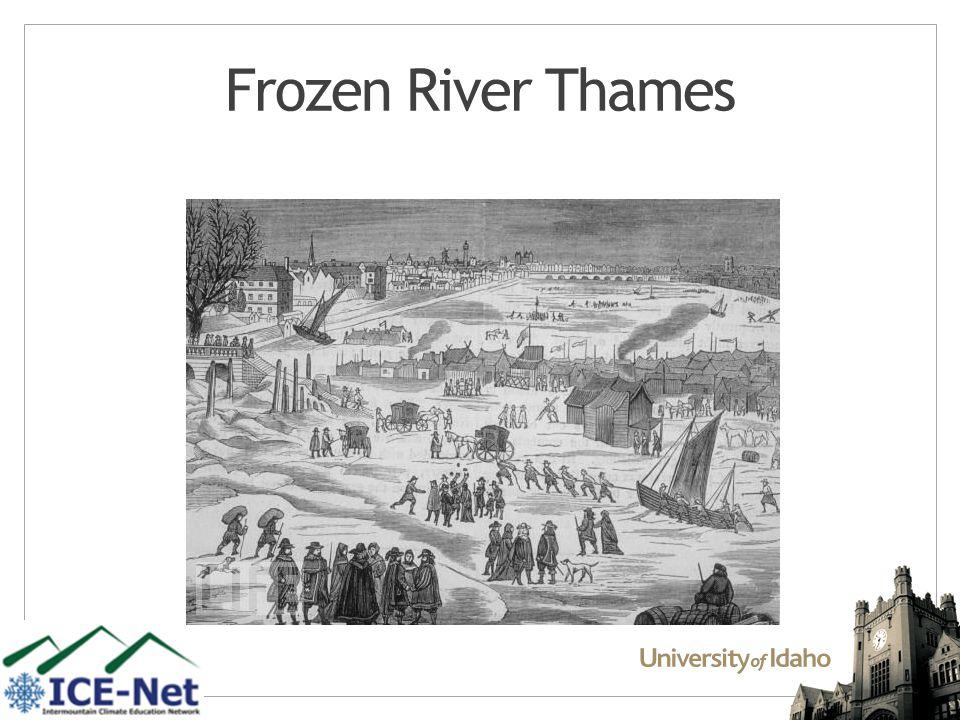 Frozen River Thames