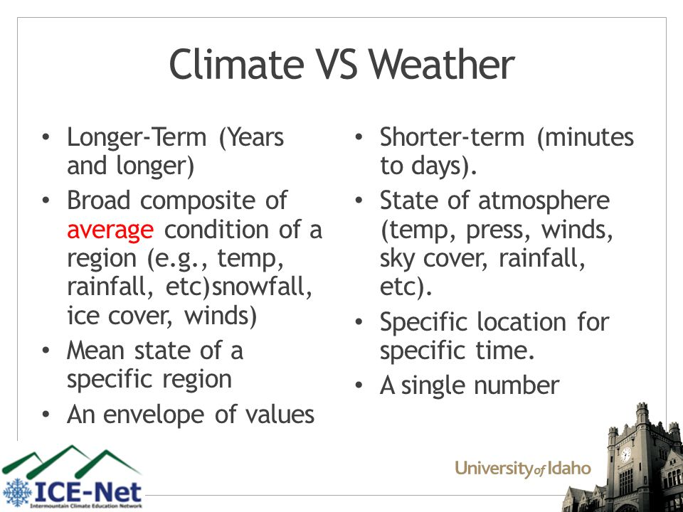 HOW DO WE CLASSIFY CURRENT CLIMATE?