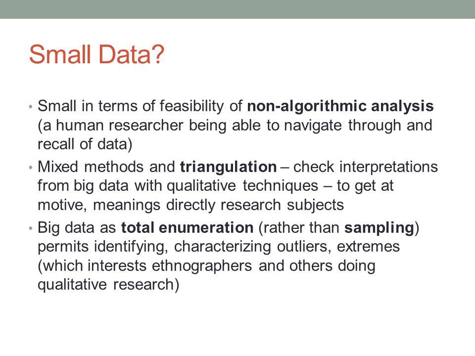 Small Data.