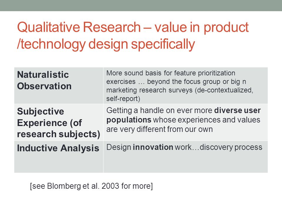 Becker – the epistemology of qualitative research (Criteria for Evaluation) Quantitative TraditionQualitative Tradition Reliability – reproducing the findings through the same procedures, same findings from multiple observers Accuracy – based on close observation not remote indicators Validity – whether and how well the researchers measured the phenomenon they claimed to be dealing with Precision – captures a fine-grained account of the phenomenon including its dimensions and variation Breadth – knowledge of a broad range of matters that touch on the topic