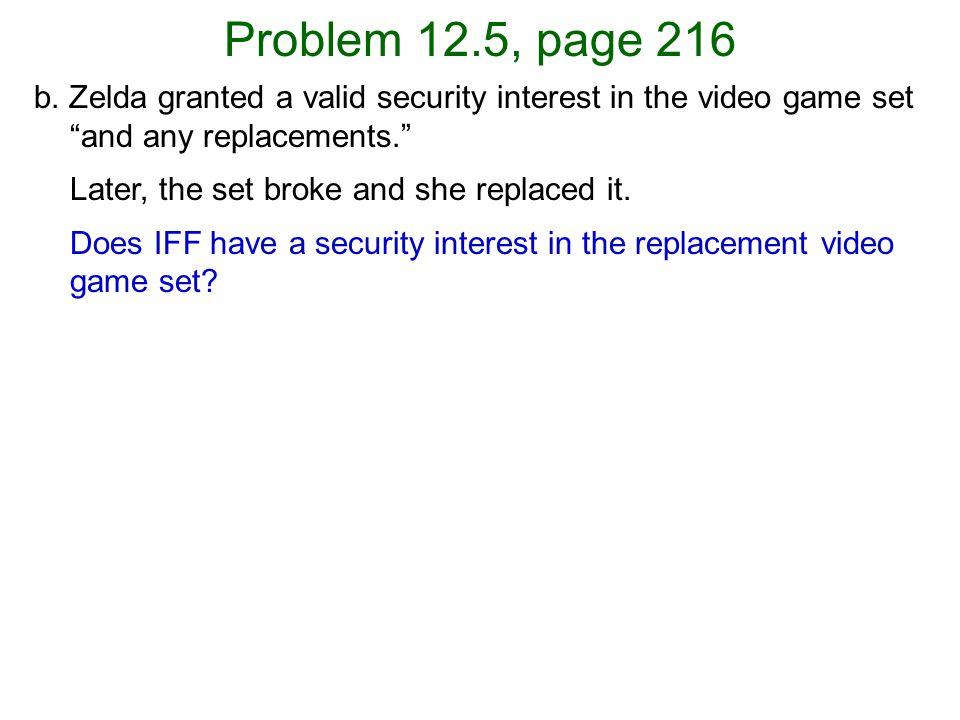 Problem 12.5, page 216 b.