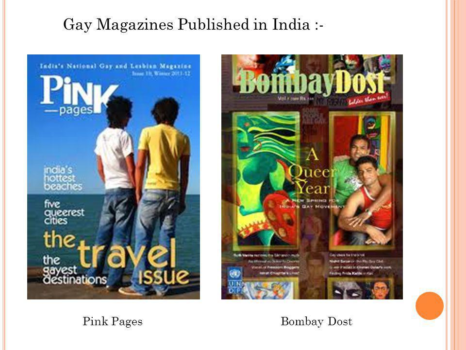 Gay Magazines Published in India :- Pink PagesBombay Dost