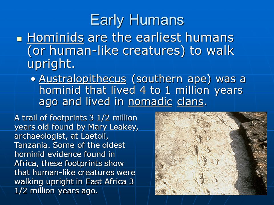 KEY TERMS The Old Stone Age The Old Stone Age Paleolithic Era