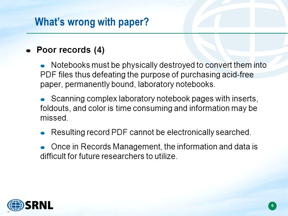 6 Whats wrong with paper.