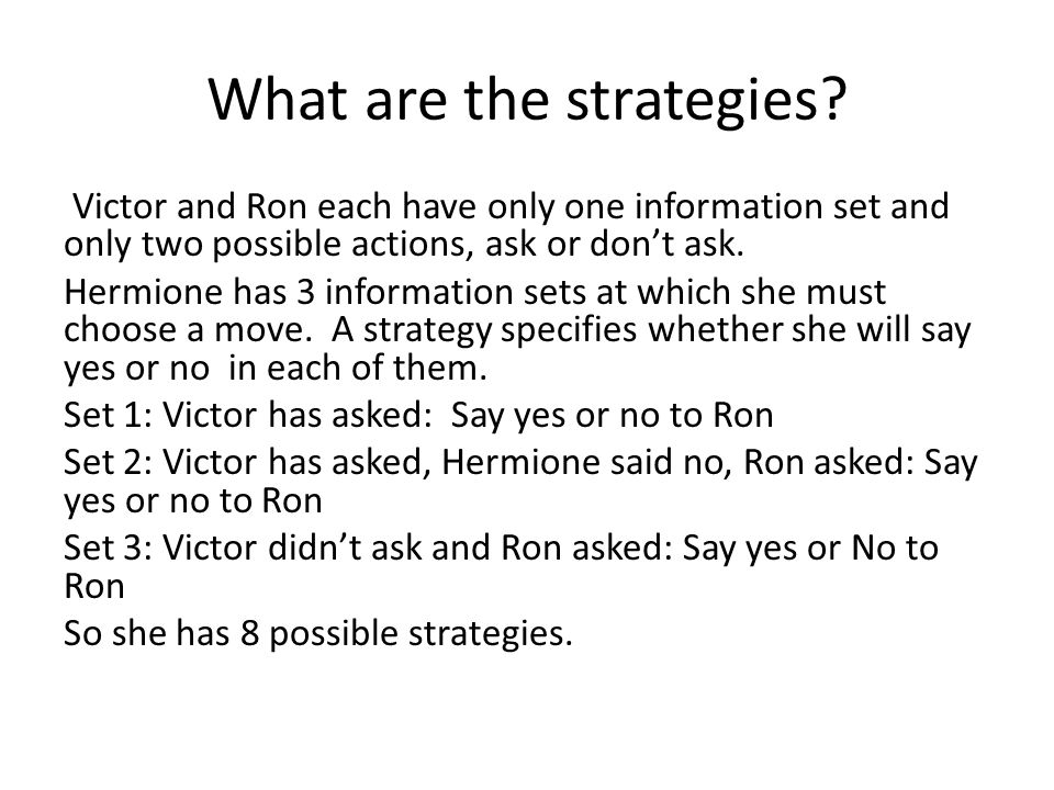 What are the strategies.
