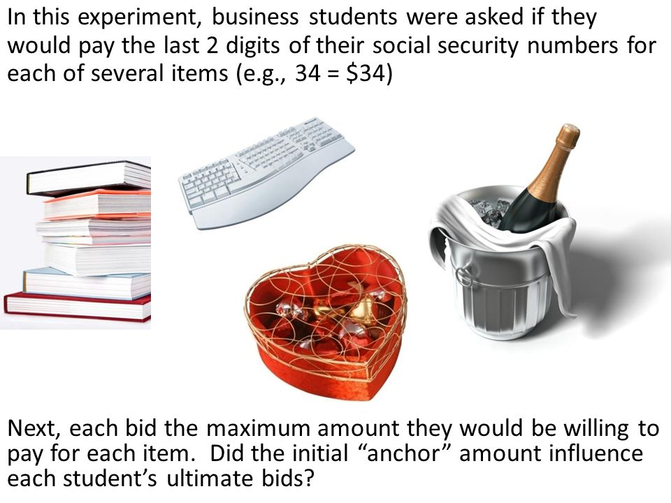 Next, each bid the maximum amount they would be willing to pay for each item. Did the initial anchor amount influence each students ultimate bids? In