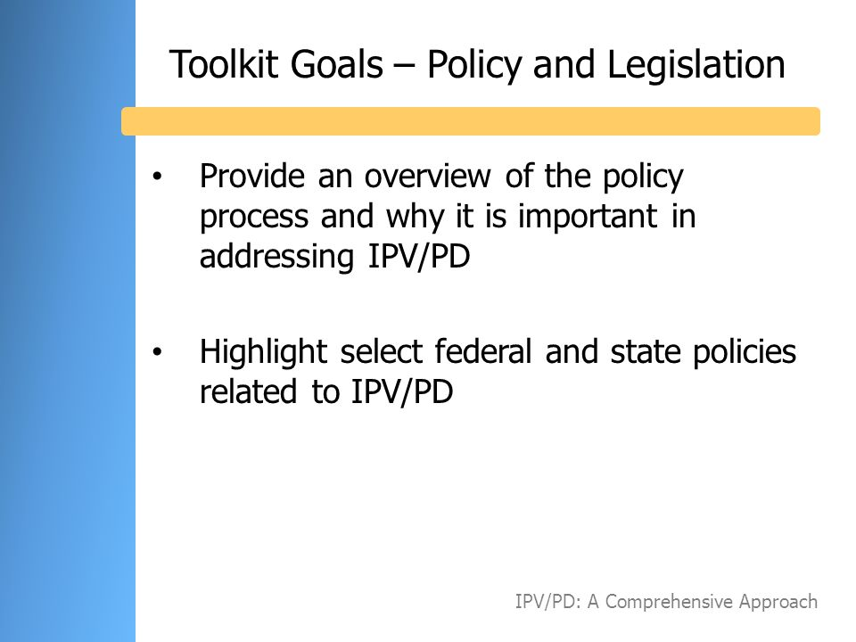 Civic Leaders Community Leaders Thought Leaders Business Leaders IPV/PD: A Comprehensive Approach