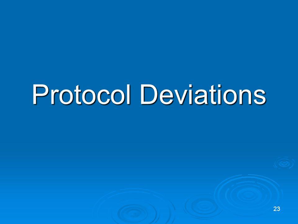 Protocol Deviations 23
