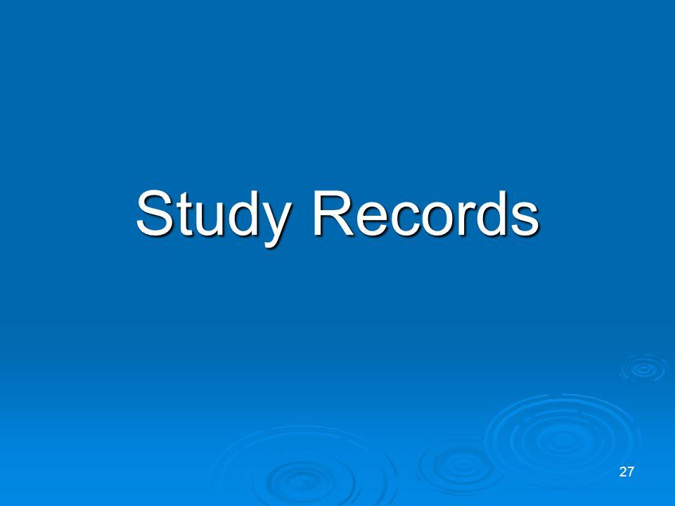 Study Records 27