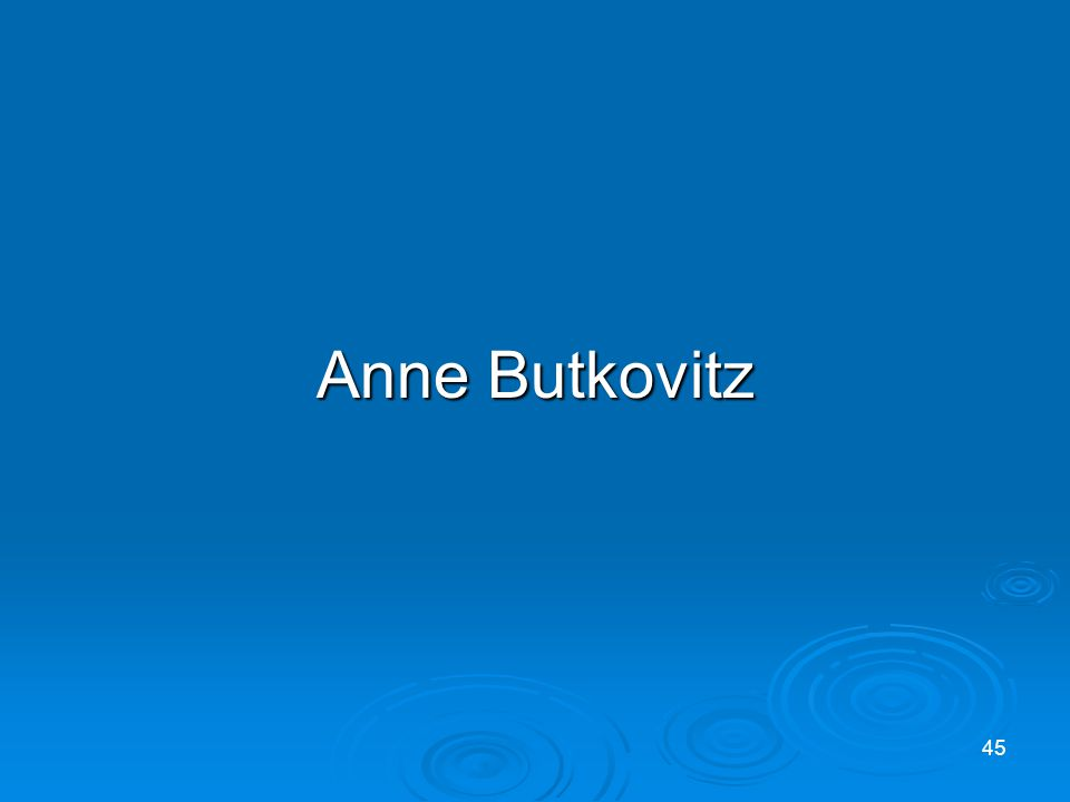 Anne Butkovitz 45