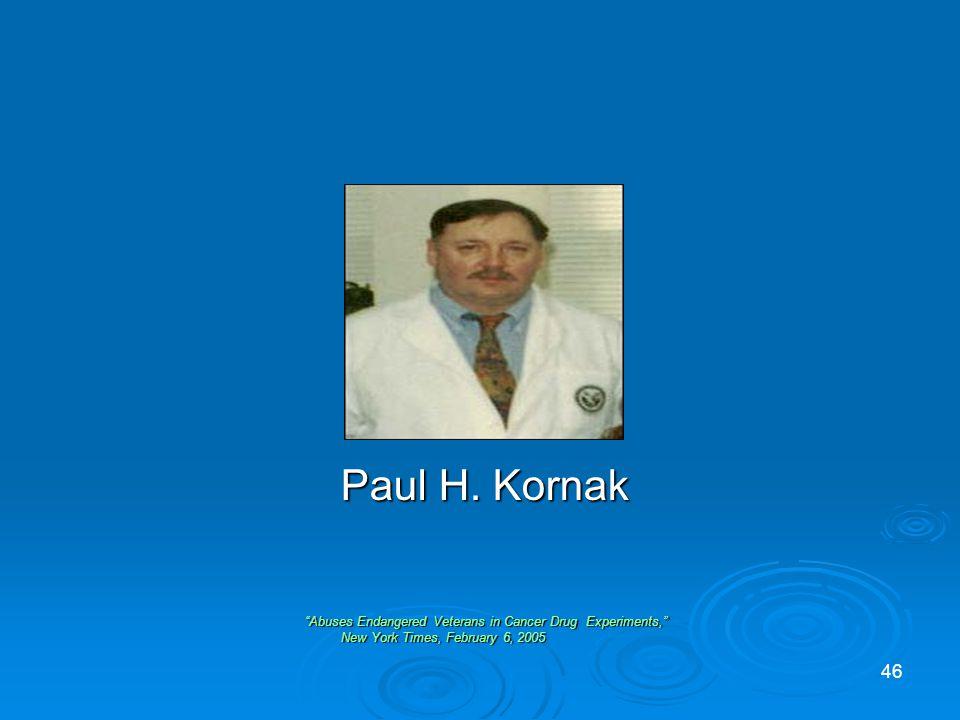 Paul H. Kornak Paul H.