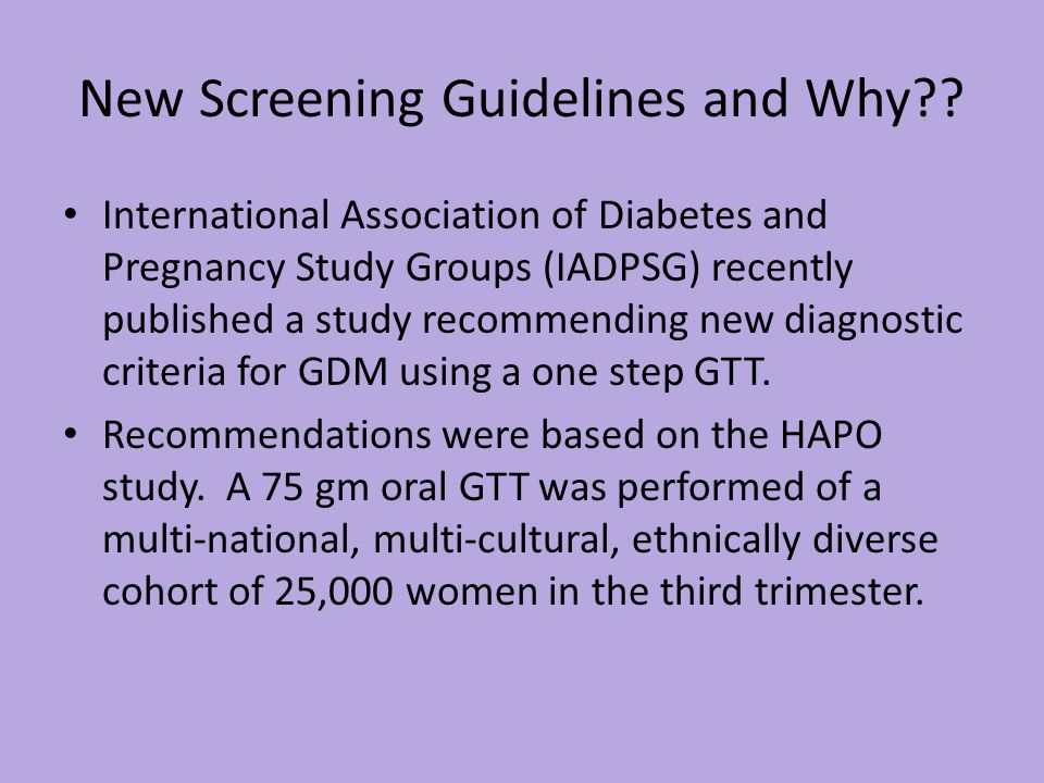 New Screening Guidelines and Why?.
