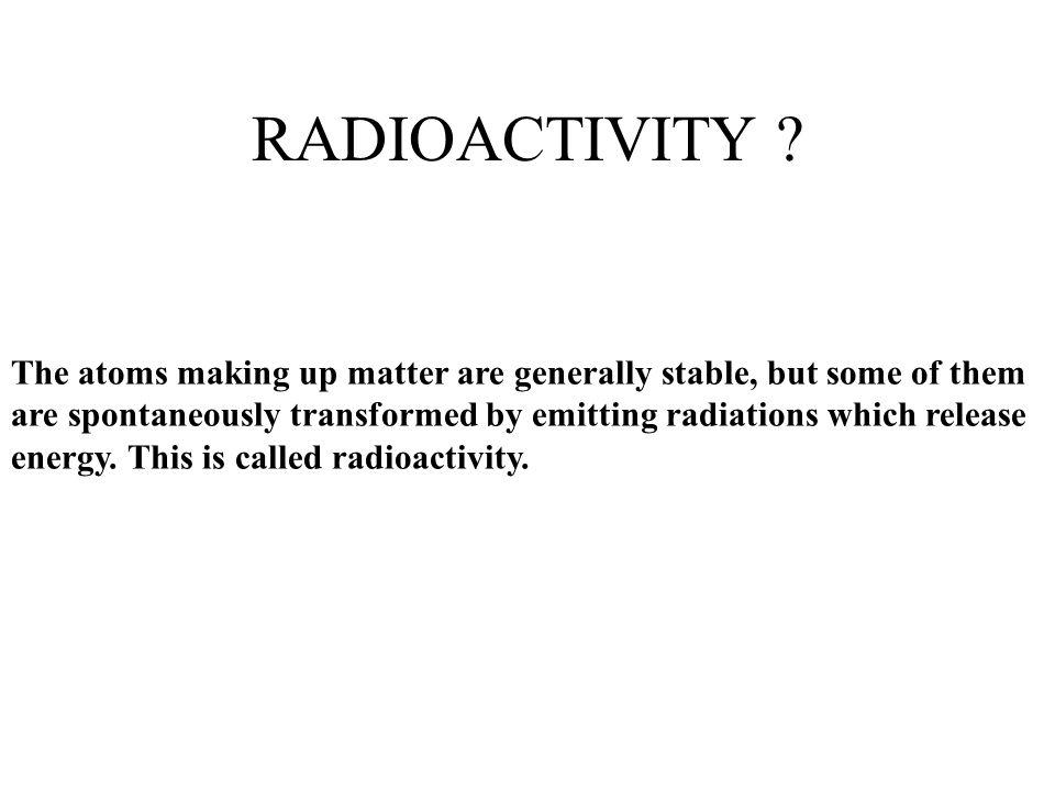 RADIOACTIVITY .