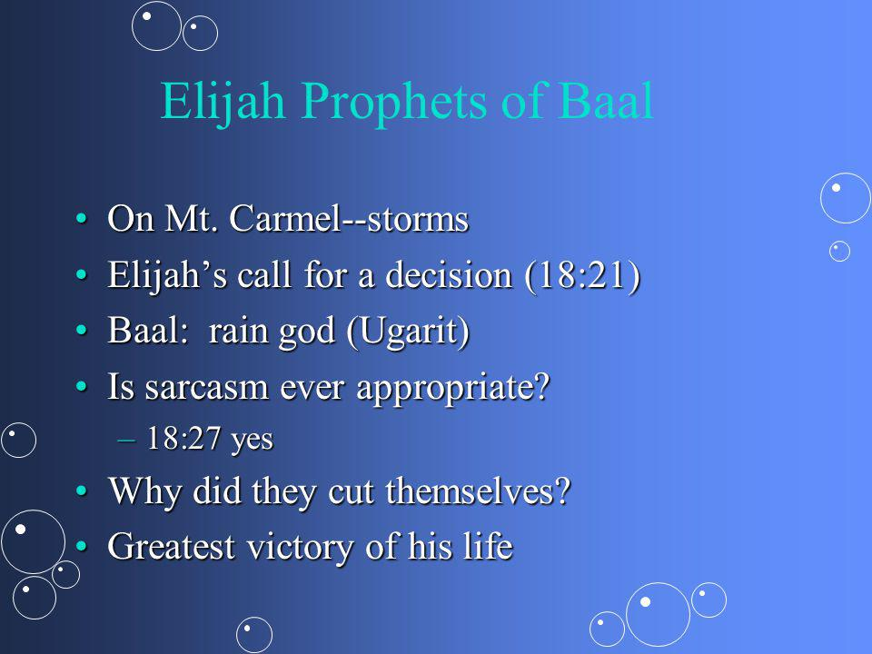 Elijah Prophets of Baal On Mt. Carmel--stormsOn Mt.