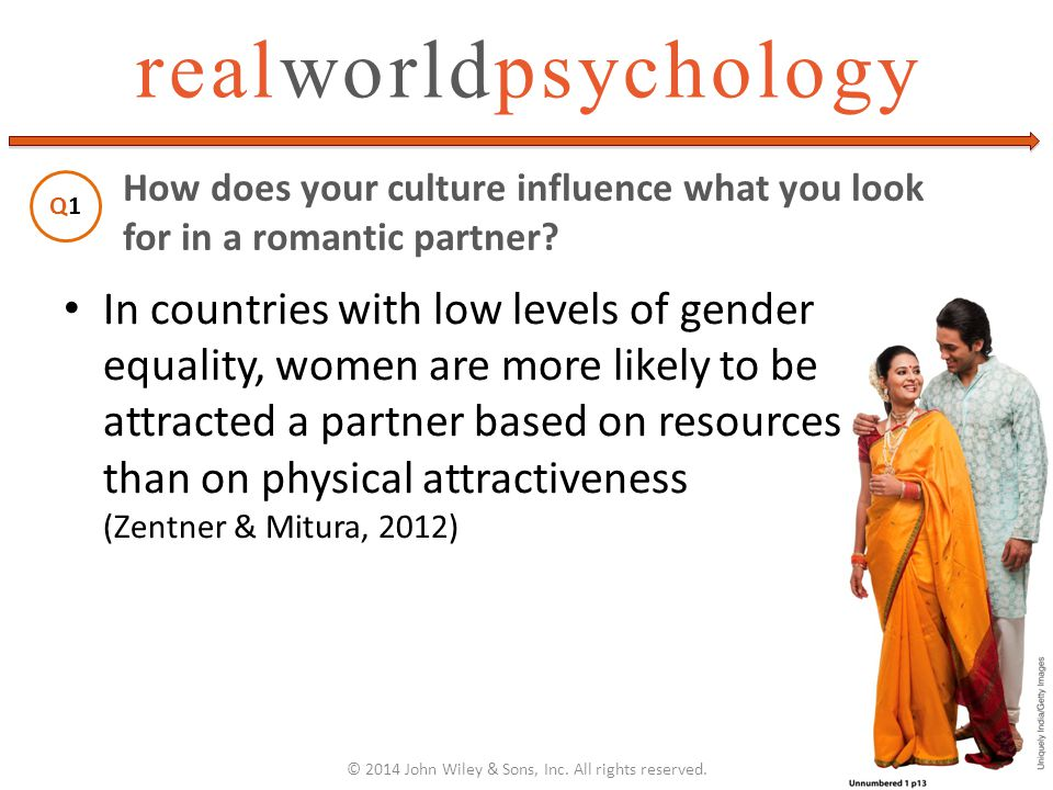 realworldpsychology In countries with low levels of gender equality, women are more likely to be attracted a partner based on resources than on physic
