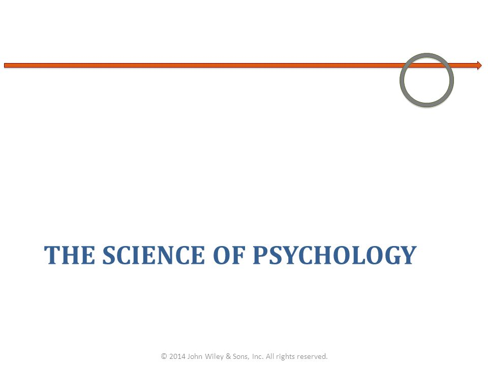 THE SCIENCE OF PSYCHOLOGY © 2014 John Wiley & Sons, Inc. All rights reserved.