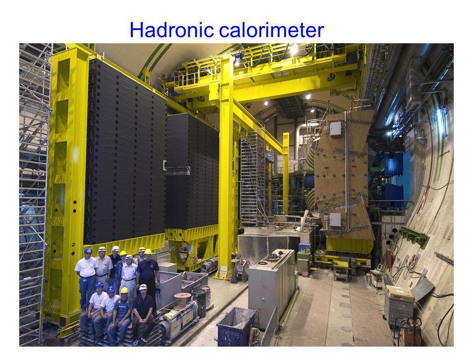 Hadronic calorimeter mur de plomb PRS, SPD