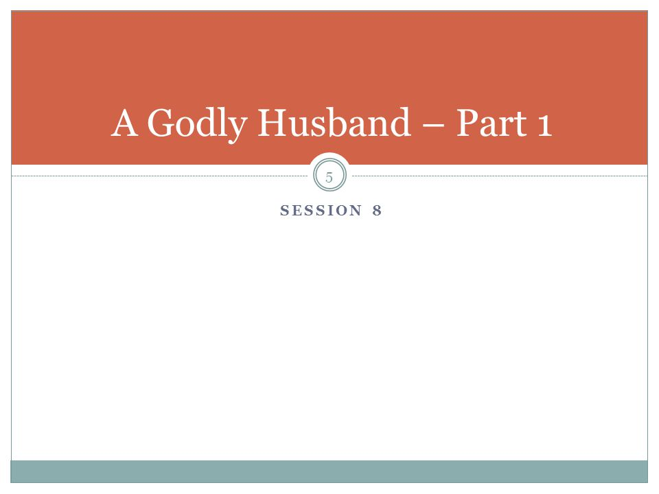 Introduction 6 Choosing to enter the marriage relationship, a man assumes great responsibilities in the leadership role of the family Many times the success, happiness in marriage is determined by the man What does God demand of the husband and what the wife should expect of her husband?