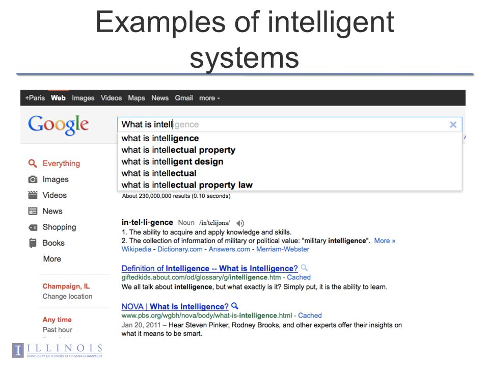 Why intelligent systems Whats special about intelligent systems –Why bother with this class