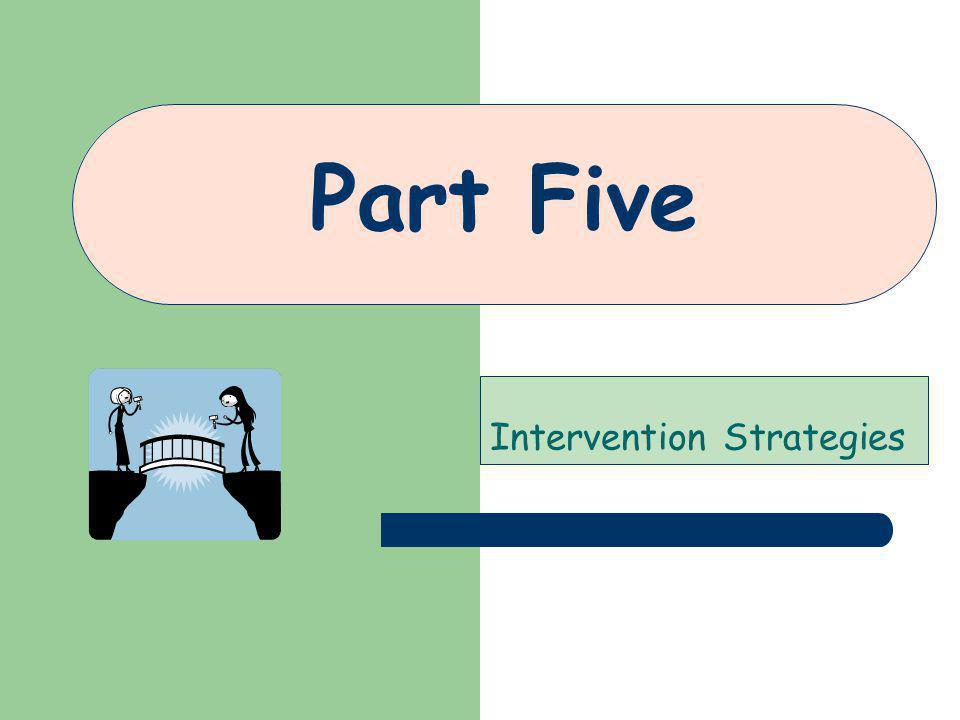 Part Five Intervention Strategies