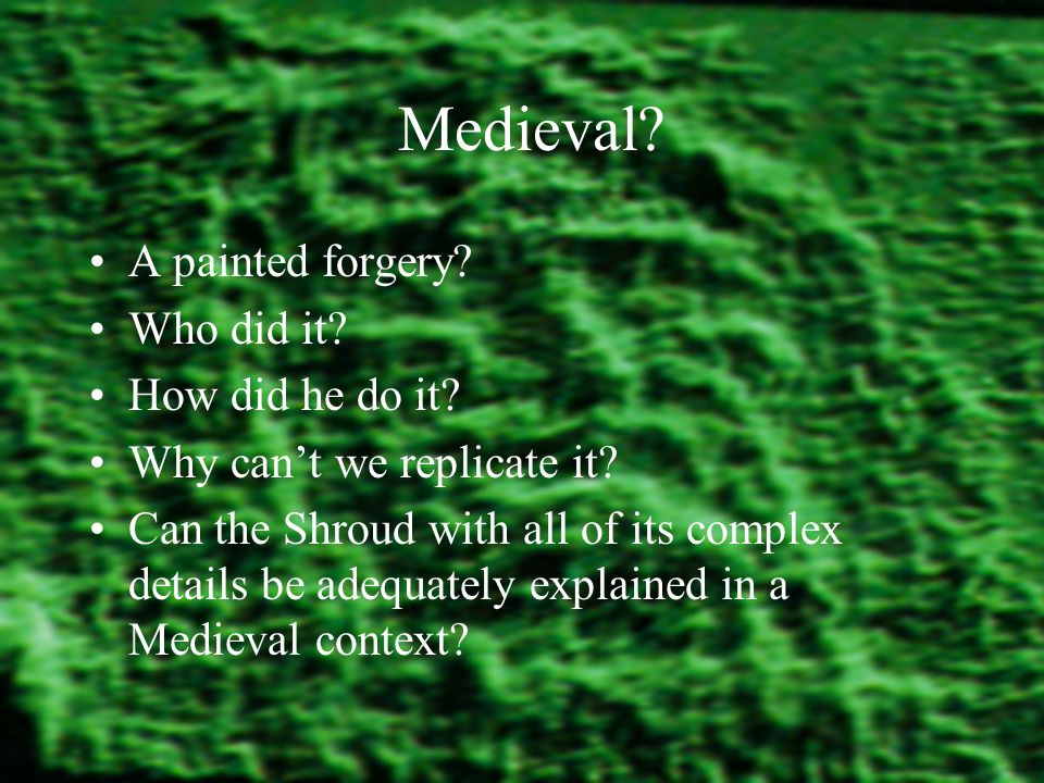 Medieval.A painted forgery. Who did it. How did he do it.