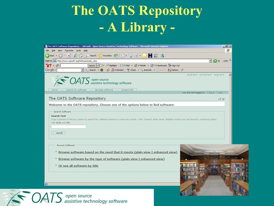 The OATS Repository - A Library -