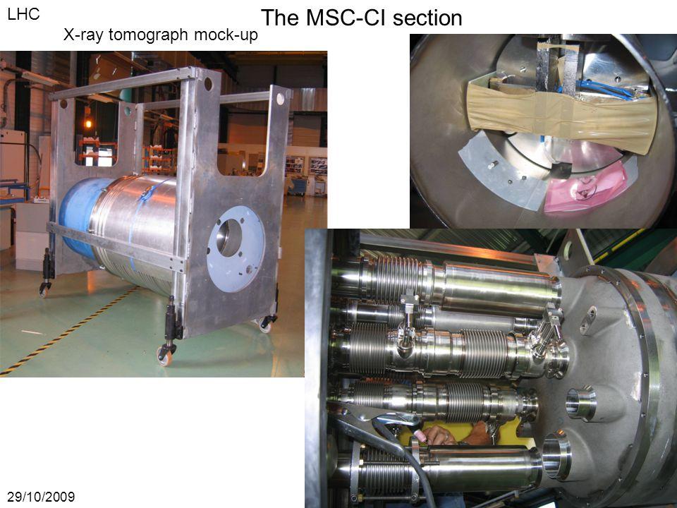 The MSC-CI section 29/10/2009JPh Tock MSC-CI LHC X-ray tomograph mock-up