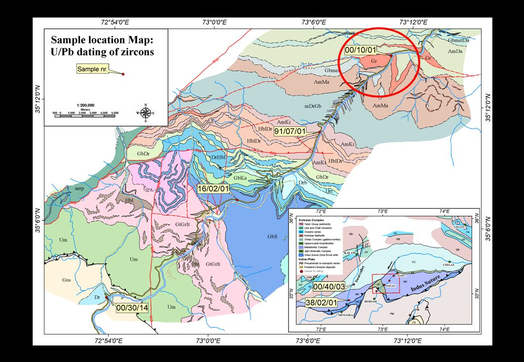 Detailed map Granitic Rock