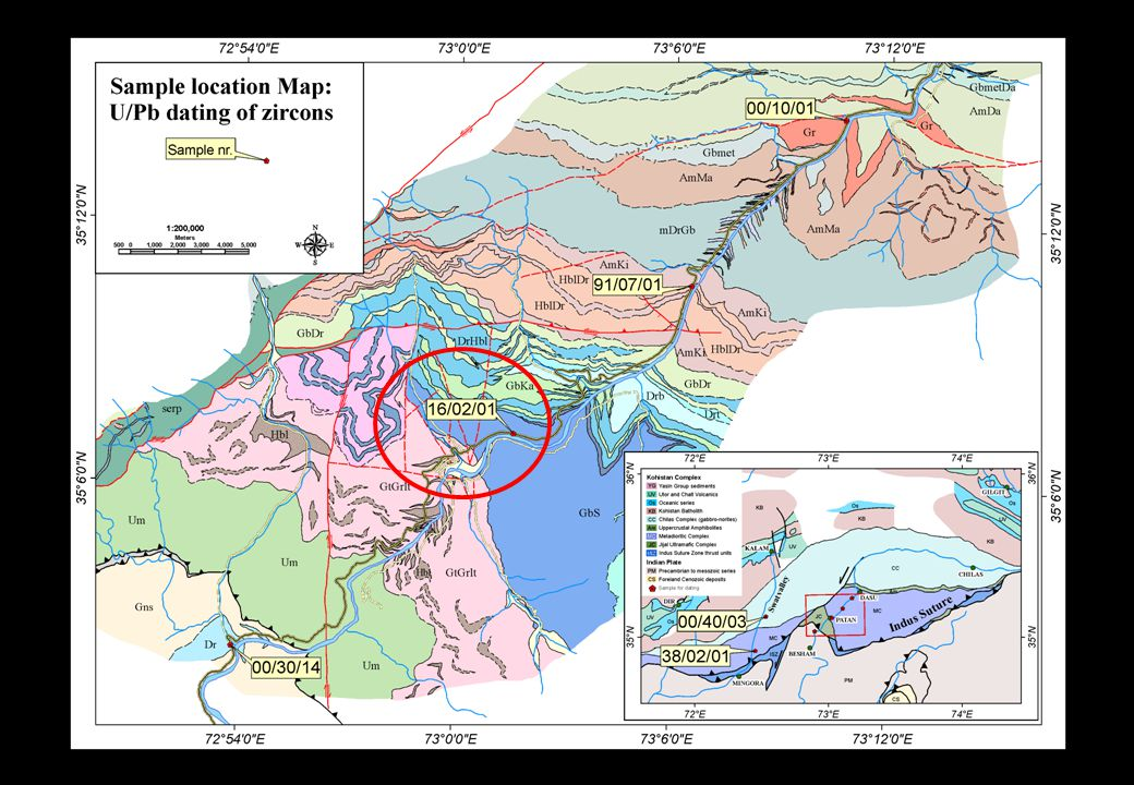 Detailed map Sarangar Gabbro