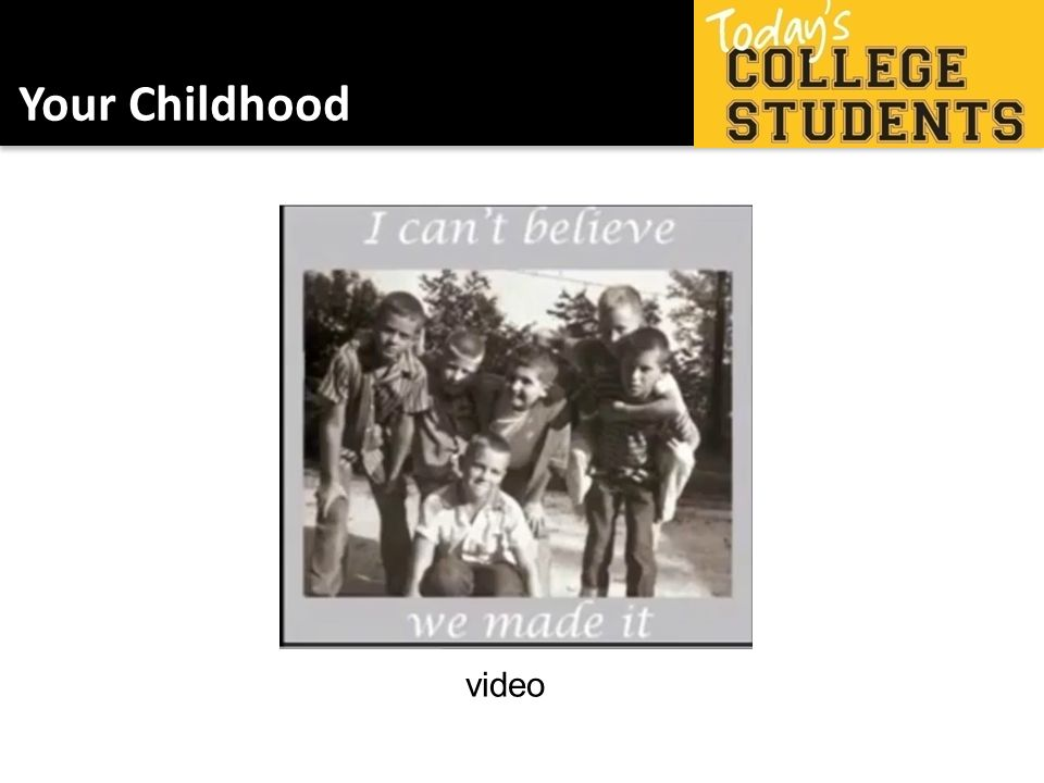 Your Childhood video