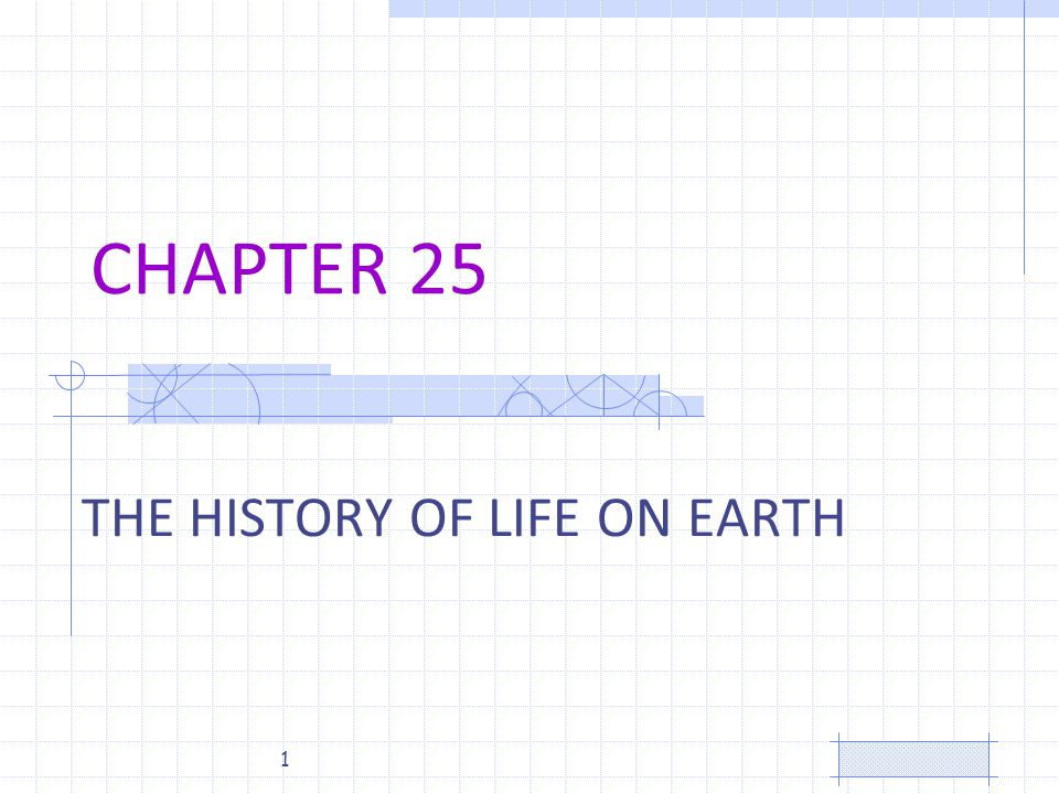 CHAPTER 25 THE HISTORY OF LIFE ON EARTH 1