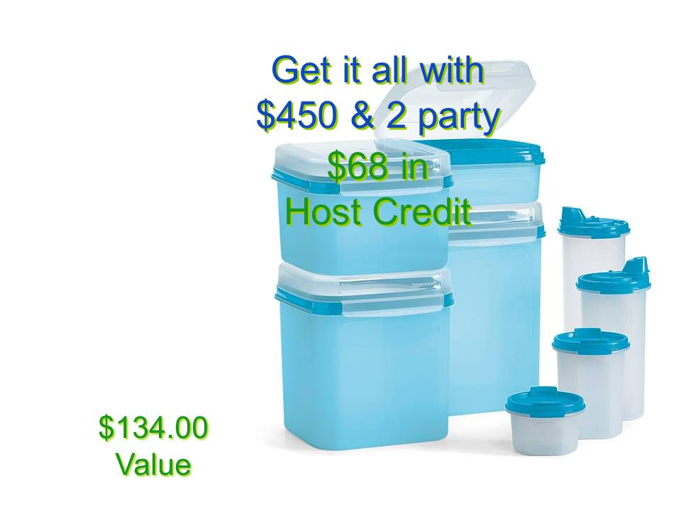 Get it all with $450 & 2 party $68 in Host Credit $134.00 Value