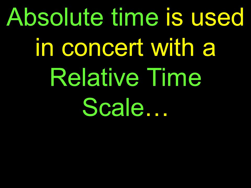 ln(n 0 /n t )(100000000) T = This is referred to as absolute time… 0.0154