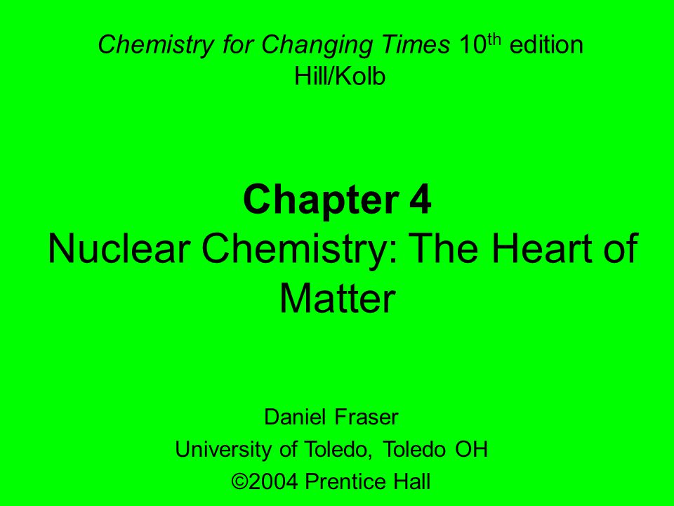 Chapter 442 Example 4.5 When potassium-39 is bombarded with neutrons, chlorine-36 is produced.
