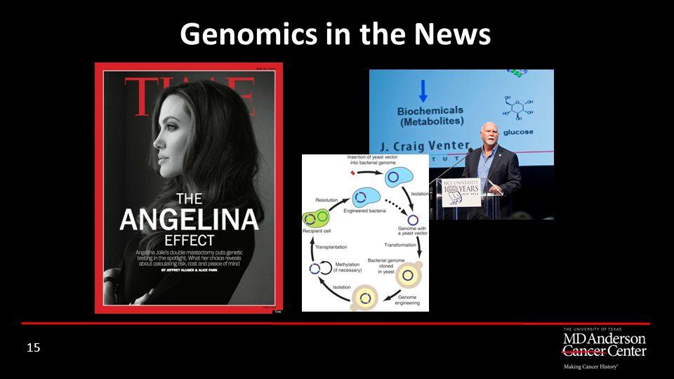 Genomics in the News 15