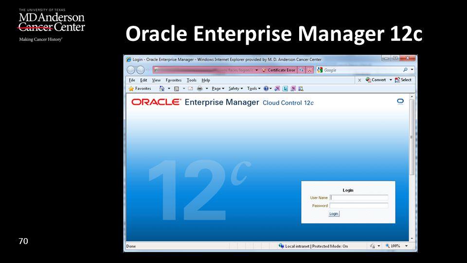 Oracle Enterprise Manager 12c 70