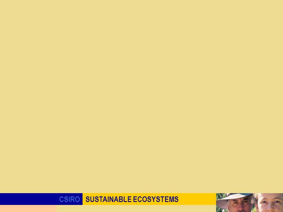 CSIROSUSTAINABLE ECOSYSTEMS