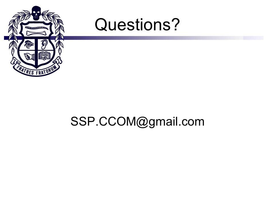 Questions SSP.CCOM@gmail.com