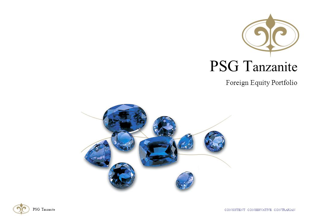 CONSISTENT CONSERVATIVE CONTRARIAN PSG T anzanite PSG T anzanite Foreign Equity Portfolio