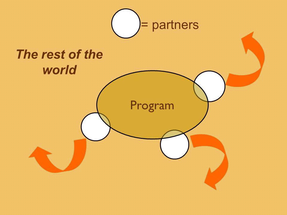Program The rest of the world = partners