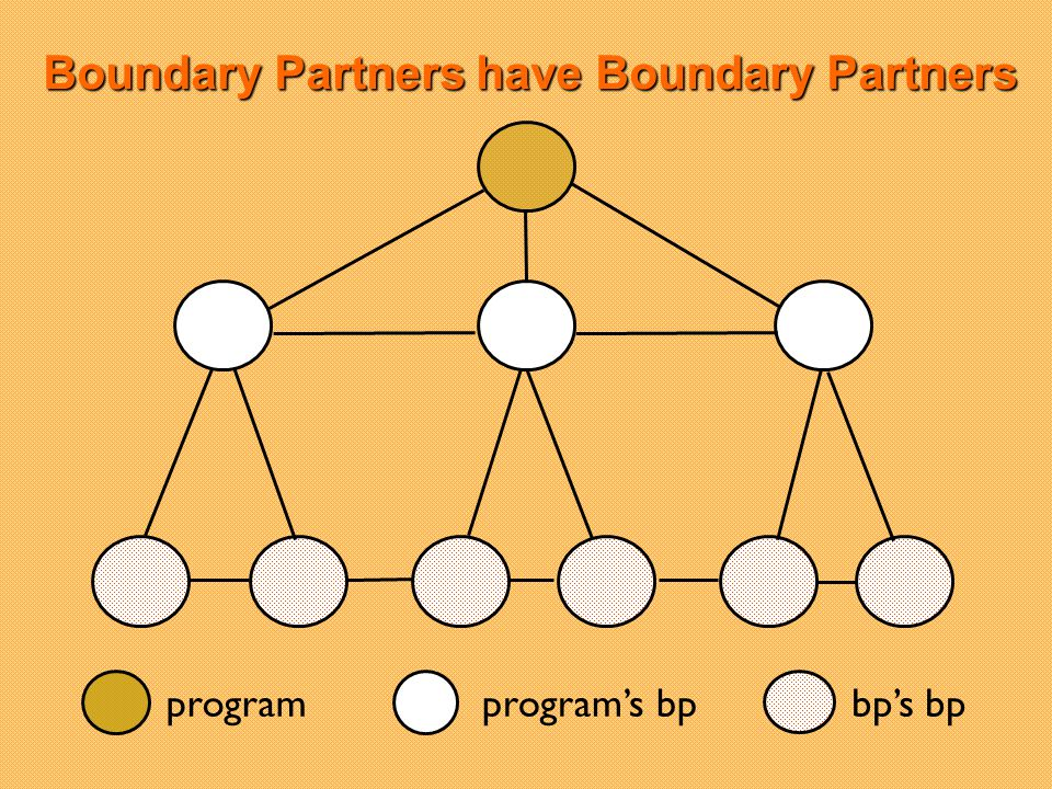 Boundary Partners have Boundary Partners programprograms bpbps bp