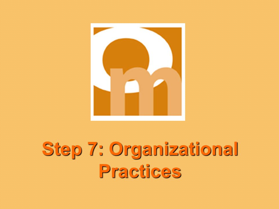 Step 7: Organizational Practices