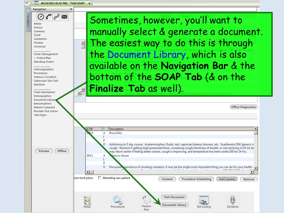 Sometimes, however, youll want to manually select & generate a document. The easiest way to do this is through the Document Library, which is also ava