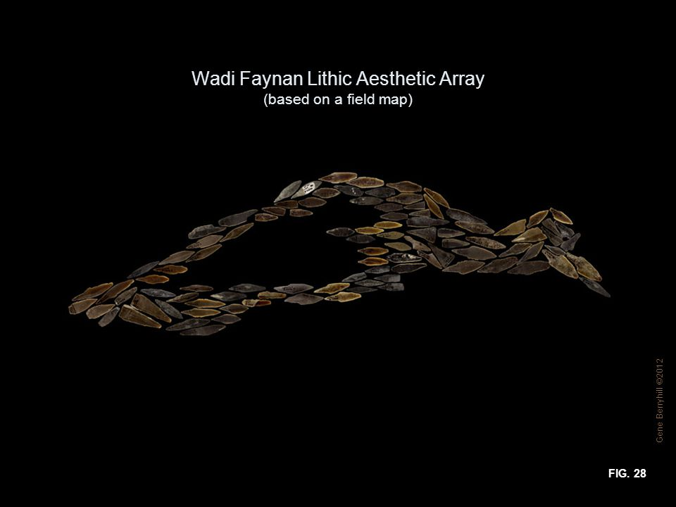 Wadi Faynan Lithic Aesthetic Array (based on a field map) FIG. 28 Gene Berryhill ©2012