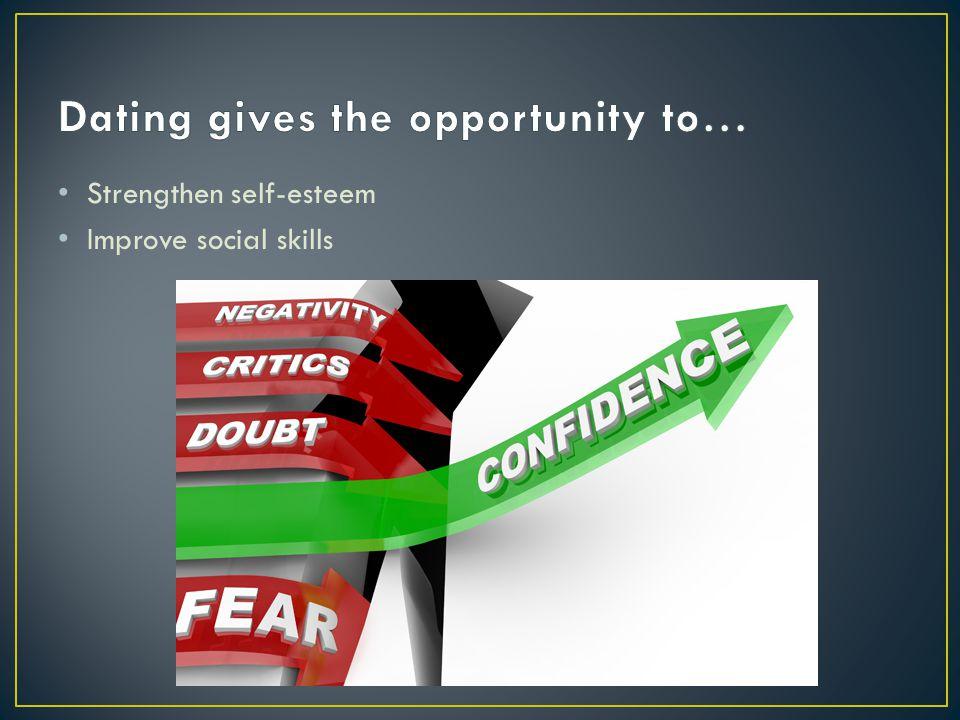 Strengthen self-esteem Improve social skills