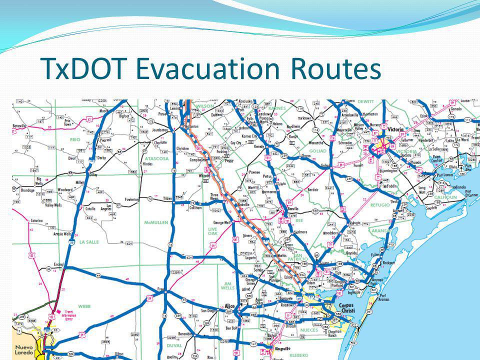 TxDOT Evacuation Routes