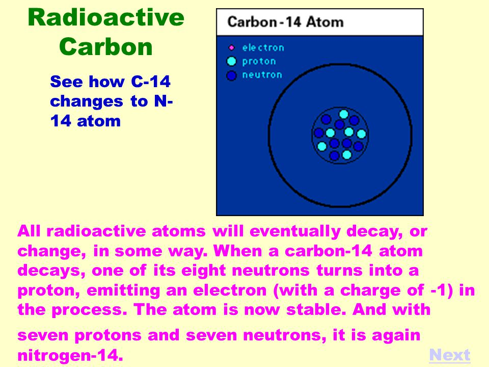All radioactive atoms will eventually decay, or change, in some way.